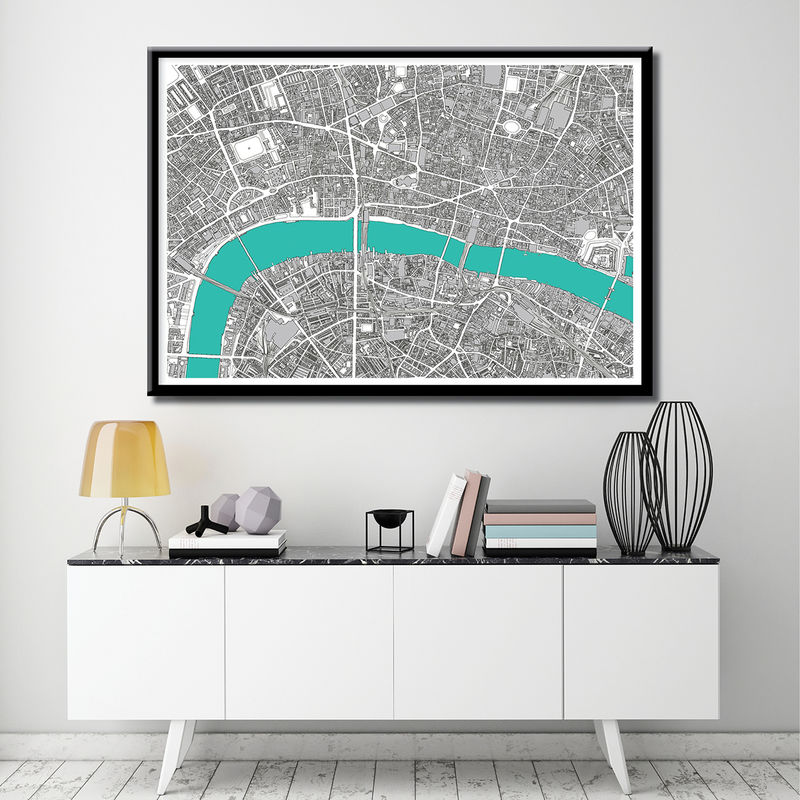 Map Art Print - London Map Print - Limited Edition Print- London Gift - product images  of