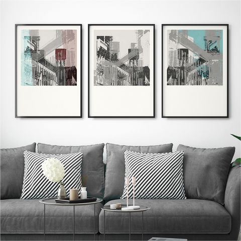 Set,of,3,Art,Prints,-,Abstract,Wall,New,York,set of 3 art prints, abstract wall art prints, contemporary wall art, new york art