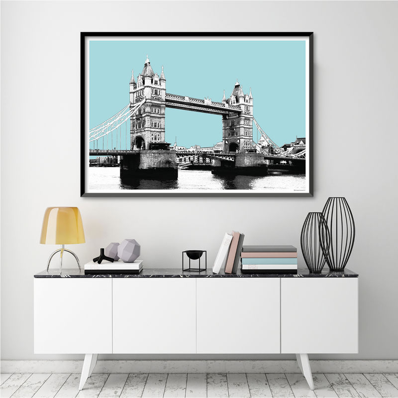 London Skyline Wall Art Print - London Themed Gift - City Prints - product images  of