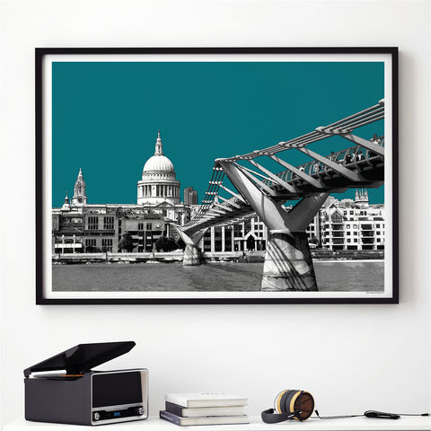 London,Art,Print,-,Skyline,Wall,St,Paul's,Cathedral,Themed,Gift,London wall art print, London skyline, St Paul's Cathedral, London Themed Gift