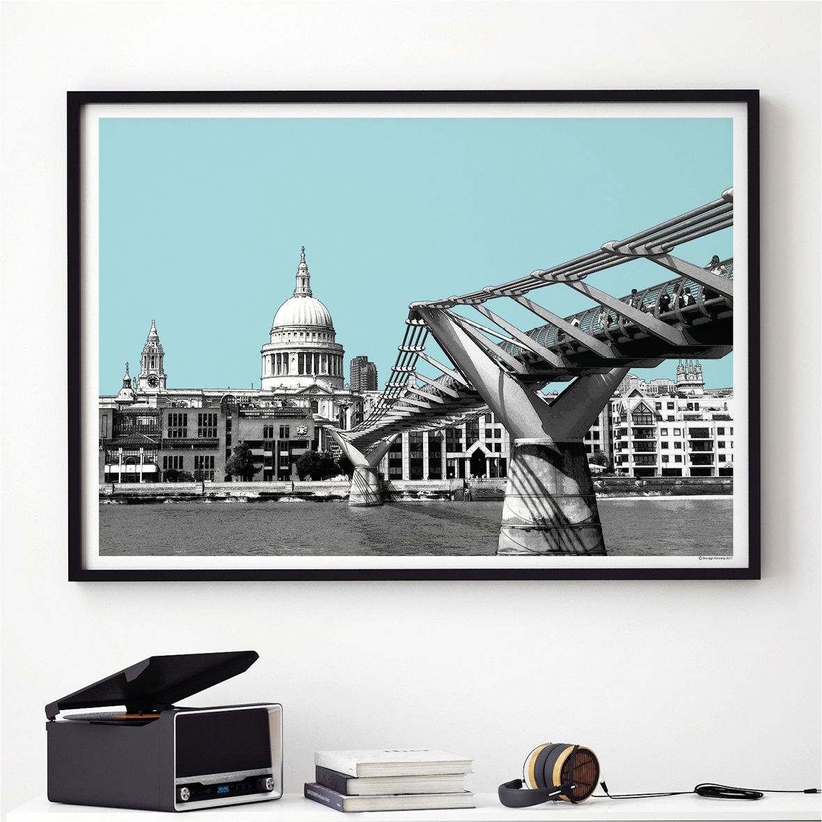 London Art Print   London Skyline   St Paulu0027s Cathedral   London Themed Gift