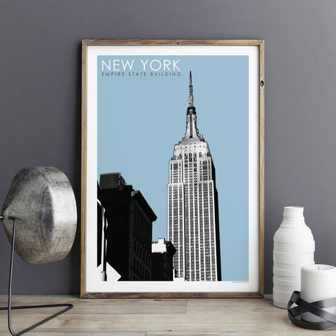 New,York,Wall,Art,Print,-,City,Prints,Gift,Empire,State,Building,New York Wall Art Print - city prints, New York gift, empire state building