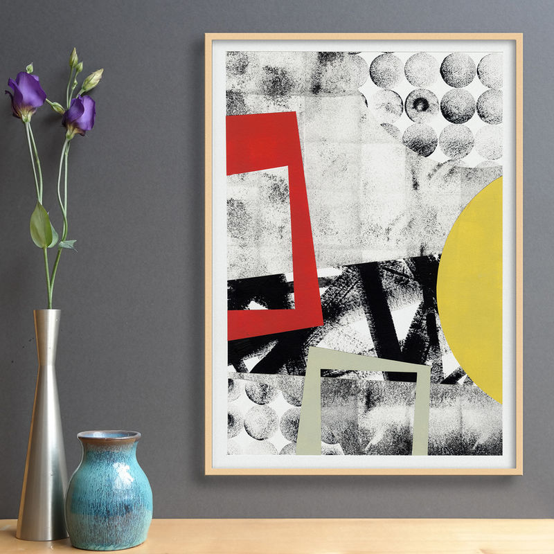 Abstract Collage Art - Original Mixed Media Painting - Contemporary Collage - product images  of