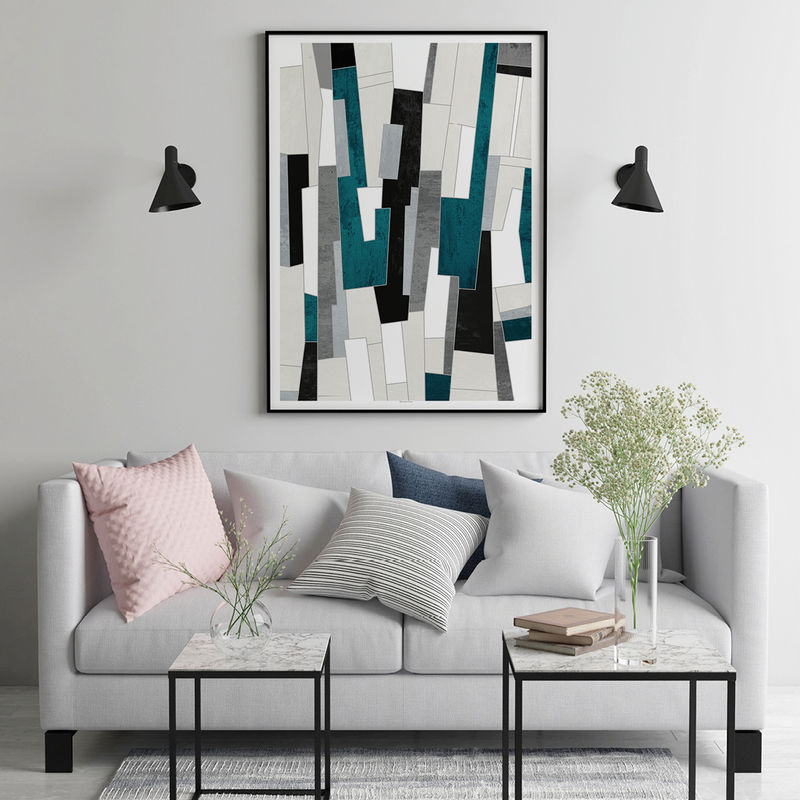 Abstract Geomteric Wall Art Prints  - product images  of