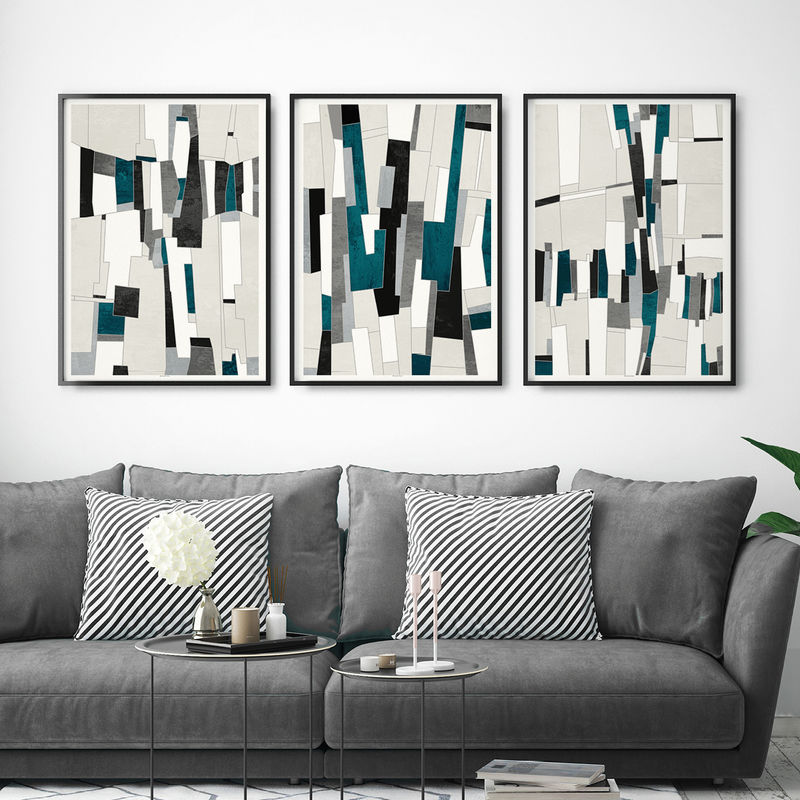 Office wall prints Wraps Office Set Of Abstract Art Prints Office Wall Art Large Wall Prints Triptych Bronagh Kennedy Set Of Abstract Art Prints Office Wall Art Large Wall Prints