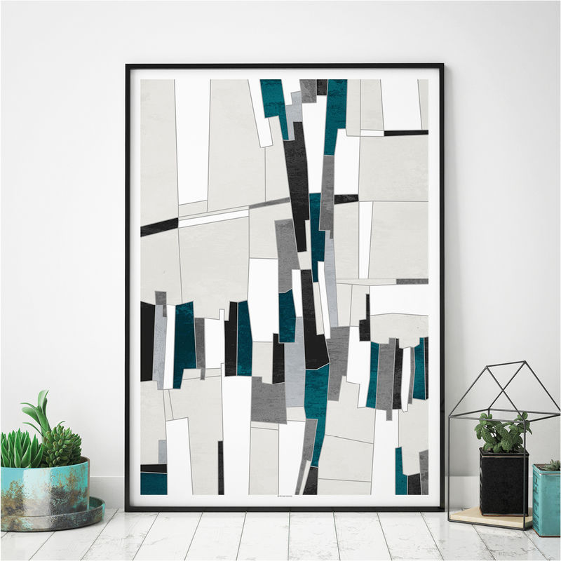 Set of 3 Abstract Art Prints – Office Wall Art – Large Wall Prints - Triptych - product images  of