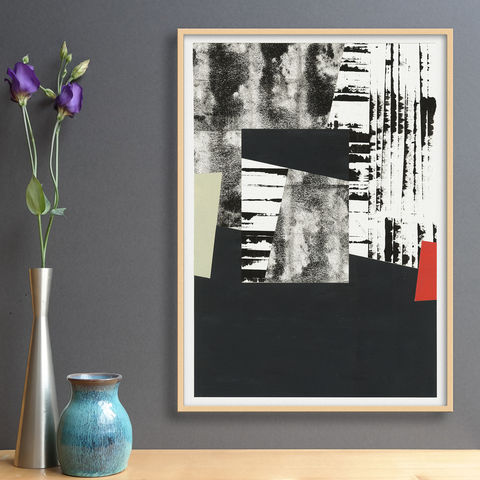 Original,Abstract,Collage,-,Black,and,White,Painting,Unique,Wall,Art,Original Abstract Collage - Black and White Painting - Unique Wall Art