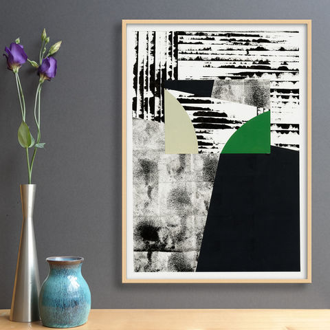 Original,Art,Under,£100,-,Contemporary,Abstract,Collage,Black,and,White,Wall,Original Art Under £100 - Contemporary Abstract Collage - Black and White Wall Art