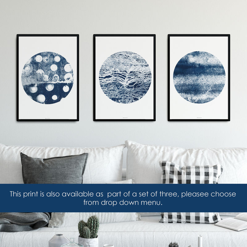 Abstract Fine Art Print - Indigo Blue Art - Minimalist Print - product images  of