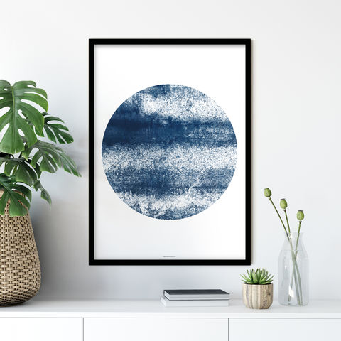 Abstract,Art,Print,-,Minimalist,Wall,Indigo,Blue,abstract art print, minimalist wall art, abstract wall art print, bronagh kennedy
