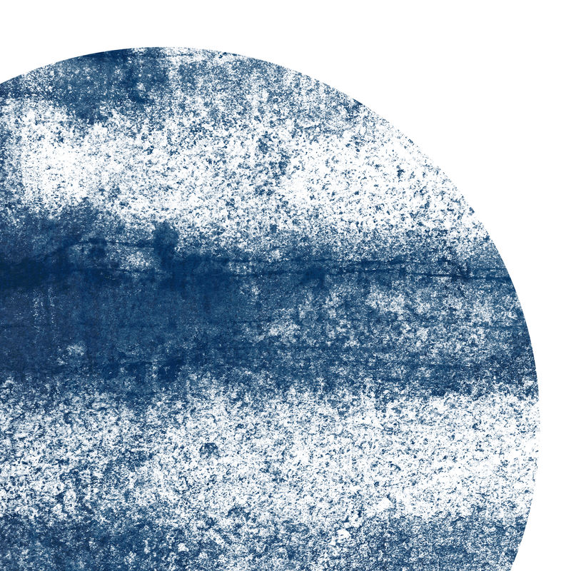 Abstract Art Print - Minimalist Wall Art - Indigo Blue Art - product images  of
