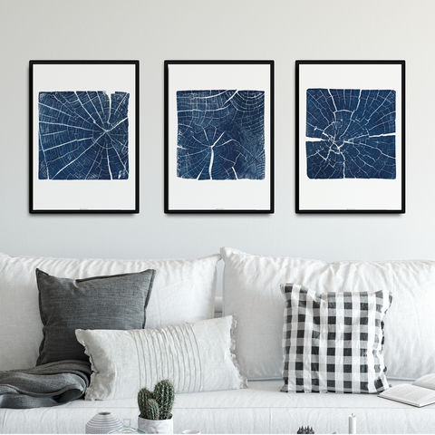 Set,of,3,Art,Prints,-,Tree,Ring,Triptych,set of 3 art print, set of three wall prints, tree ring prints, nature inspired triptych