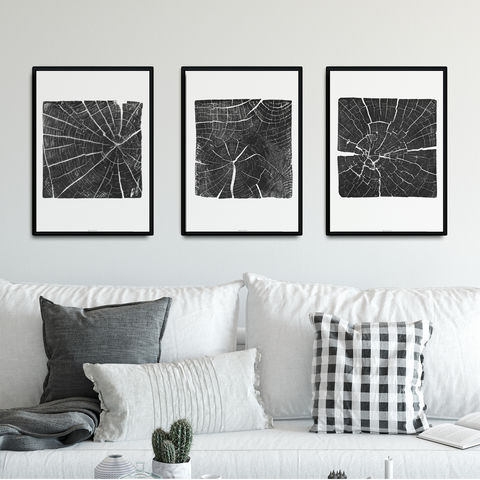 Set,of,3,Fine,Art,Prints,-,Tree,Ring,Triptych,set of 3 fine art print, set of three wall prints, tree ring prints, nature inspired triptych