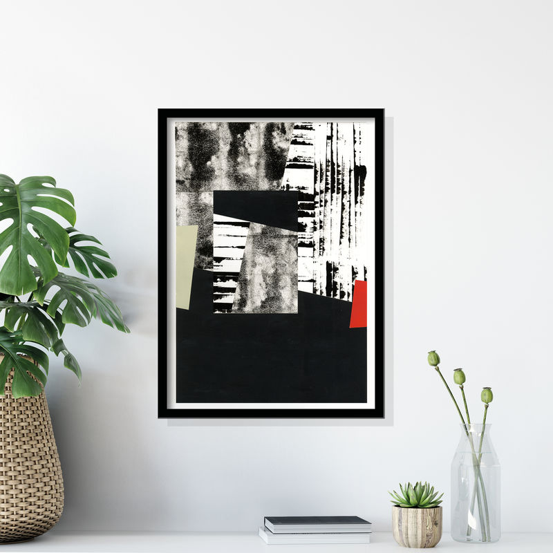 Original Abstract Painting - Contemporary Collage - Art Under £100 - product images  of