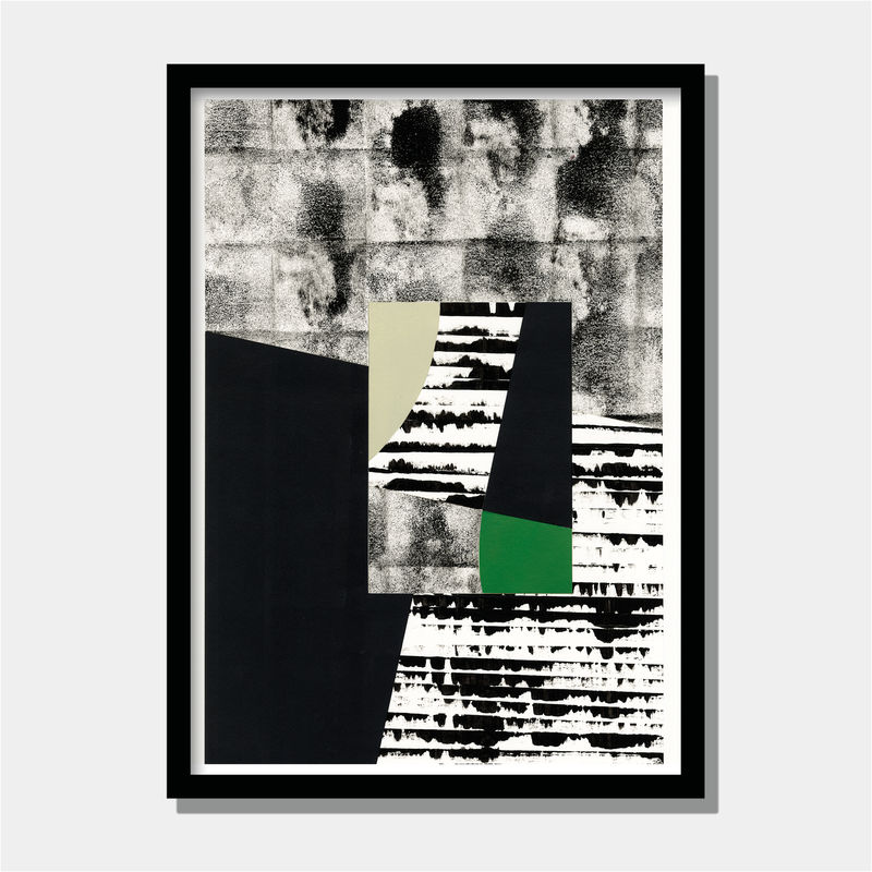 Black and White Painting - Original Abstract Collage - Unique Wall Art - product images  of
