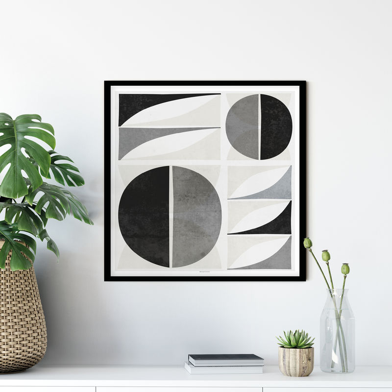 Mid Century Modern Art Print - Geometric Shape Wall Art - Square Wall Art - product images  of