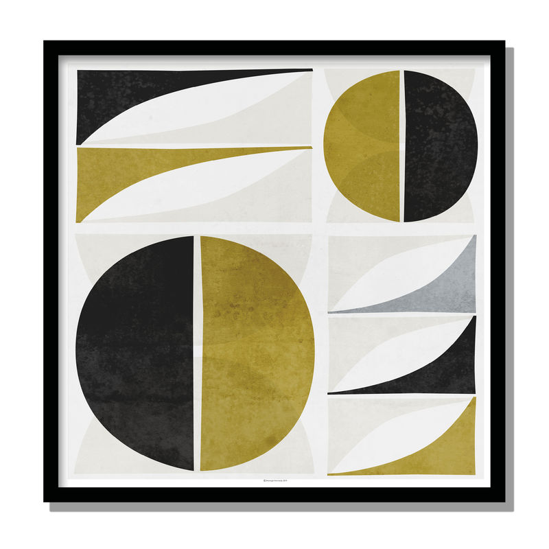 Abstract Fine Art Print - Mustard Yellow Wall Art - Minimalist Print - Mid Century Print - product images  of