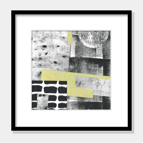 Contemporary,Abstract,Collage,-,Original,Art,Black,and,White,Wall,Contemporary Abstract Collage - Original Abstract Art - Black and White Wall Art