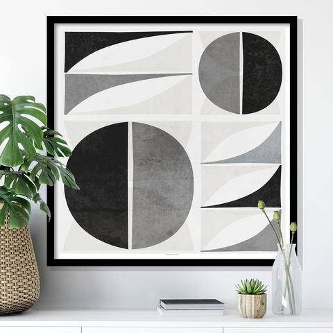 Mid,Century,Modern,Wall,Art,Print,-,Geometric,Shape,Square,Mid Century Modern Art Print - Geometric Shape Wall Art - Square Wall Art