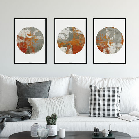 Set,of,Three,Neutral,Abstract,Fine,Art,Prints,-,Tryptic,Set of Three Neutral Abstract Fine Art Prints - Abstract Tryptic