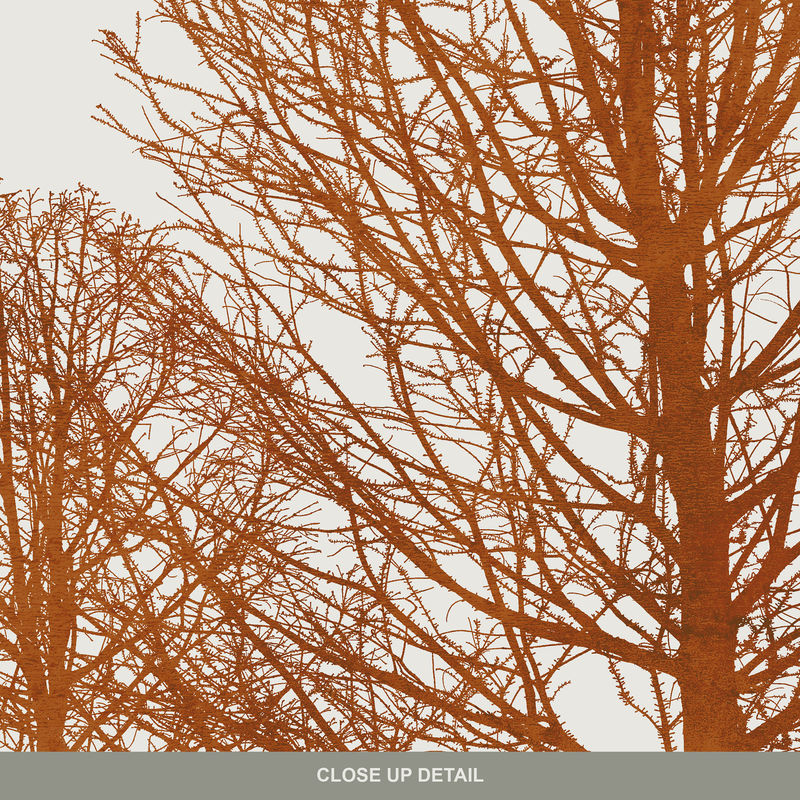 Gallery Wall Set of 3 Art Prints - Tree Silhouette Art - Autumnal Colour Print - product images  of