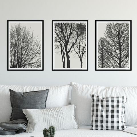Set,of,3,Tree,Silhouette,Fine,Art,Prints,-,Minimalist,Black,and,White