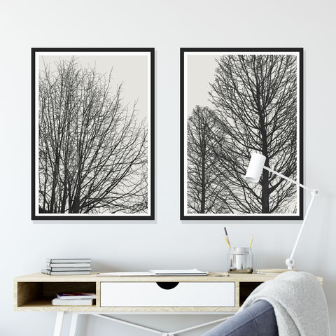 Set,of,2,Tree,Art,Prints,-,Minimalist,Landscape,Wall,art,Set of 2 Tree Art Prints - Minimalist Prints - Landscape Wall art