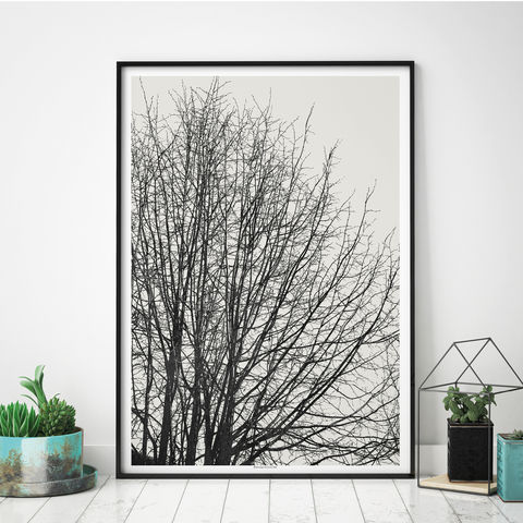Tree,Silhouette,Wall,Art,Prints,-,Minimalist,Nature,Tree Silhouette Wall Art Prints - Minimalist Art - Nature Prints