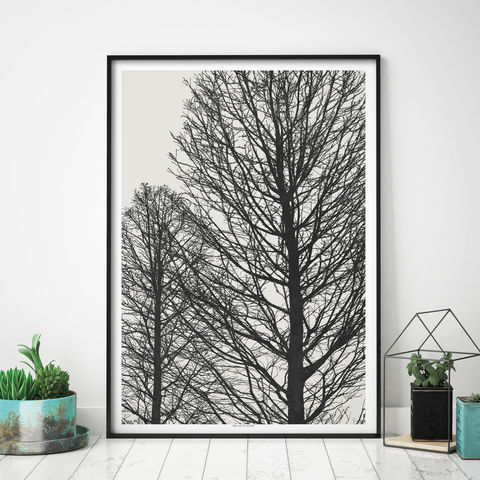 Large,Monochrome,Tree,Art,Print,-,Nature,Prints,Large monochrome Tree art Print - Nature Prints