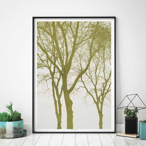Sage,Green,Wall,Art,-,Tree,Print,Landscape,Prints,Sage Green Wall Art - Tree Silhouette Print - Landscape Prints