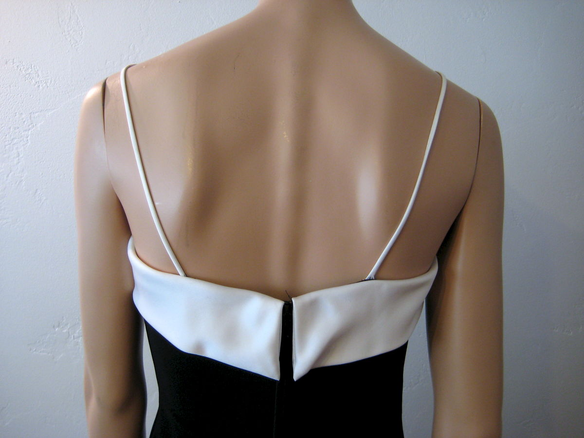 Vintage Betsy & Adam Evening Dress Black and White - product images  of
