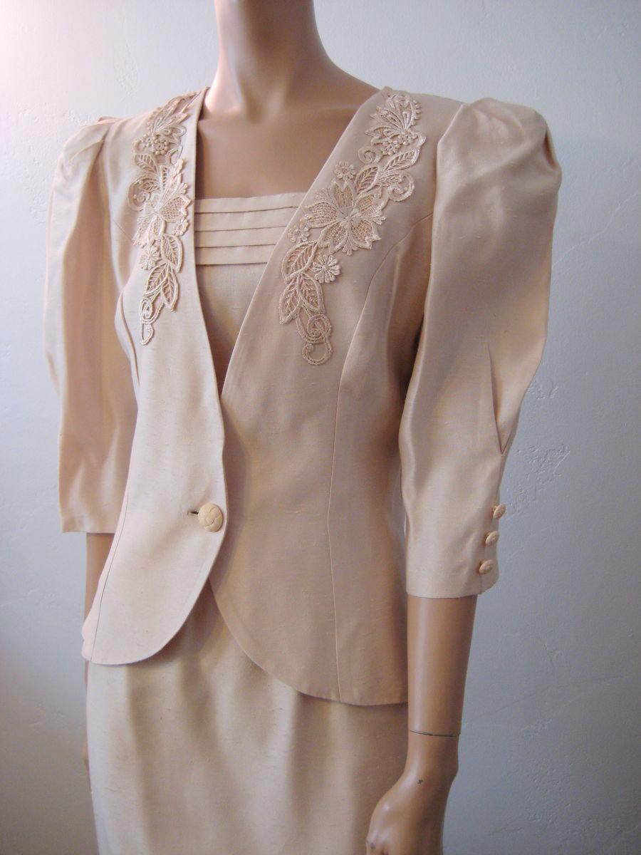 Vintage 1980\'s Cachet By Bari Protas Dress & Jacket Size 9/10 ...