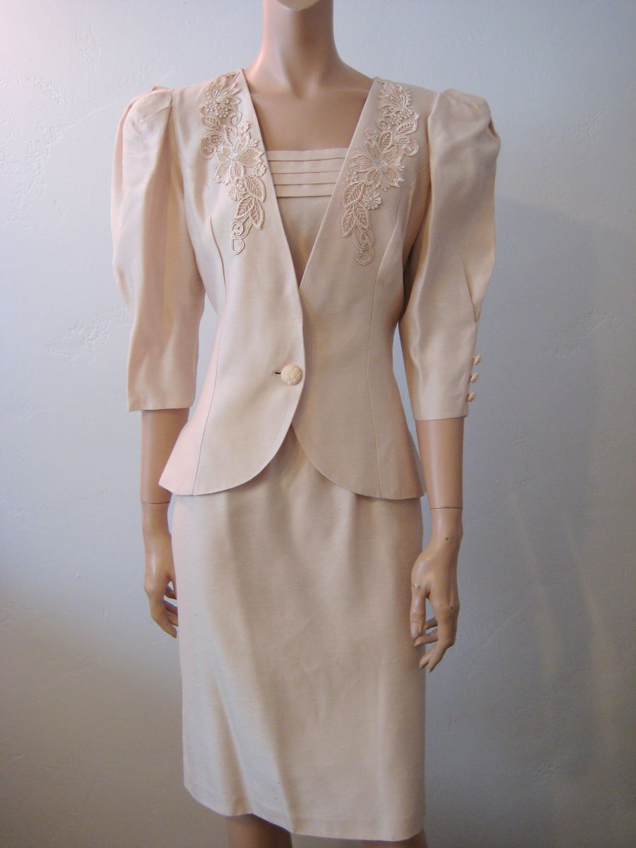 Vintage 1980's Cachet By Bari Protas Dress & Jacket Size 9/10 - product image