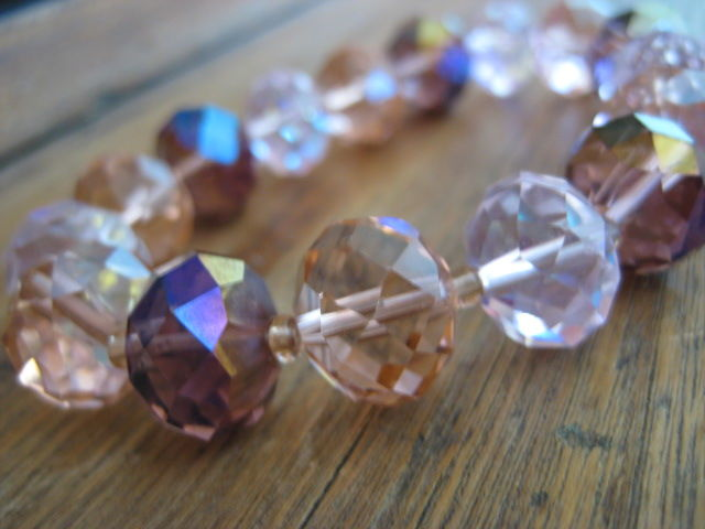Chunky Pink Crystal Stretch Bracelet - product images  of