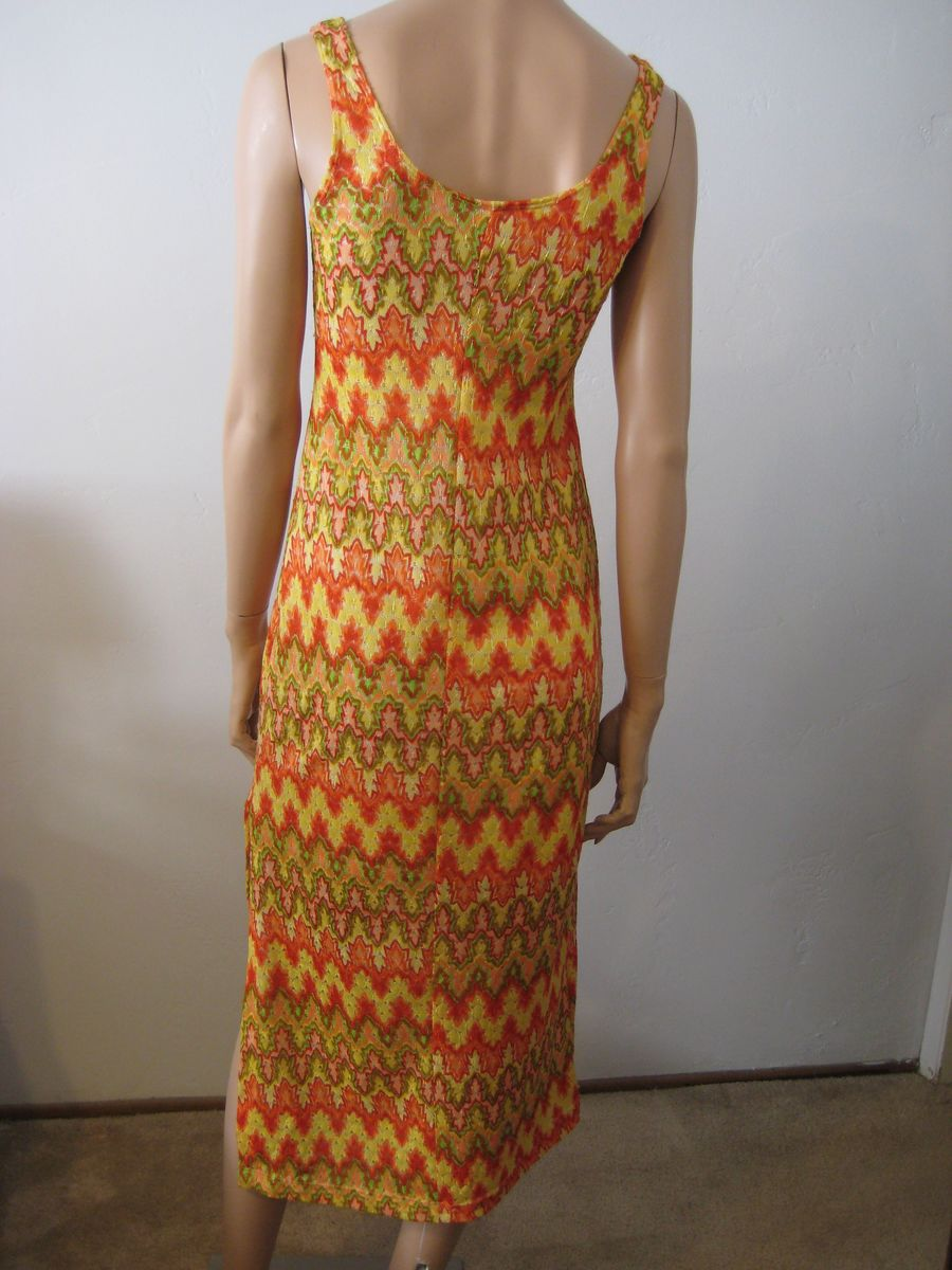 Vintage Maxi Dress Flame Stitch Bargello Size S/M - product images  of