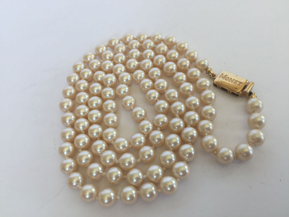 Vintage Monet Pearls - product image