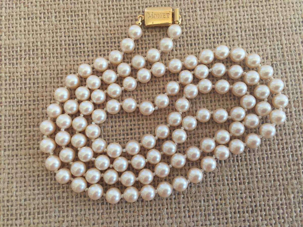 Vintage Monet Pearls - product images  of