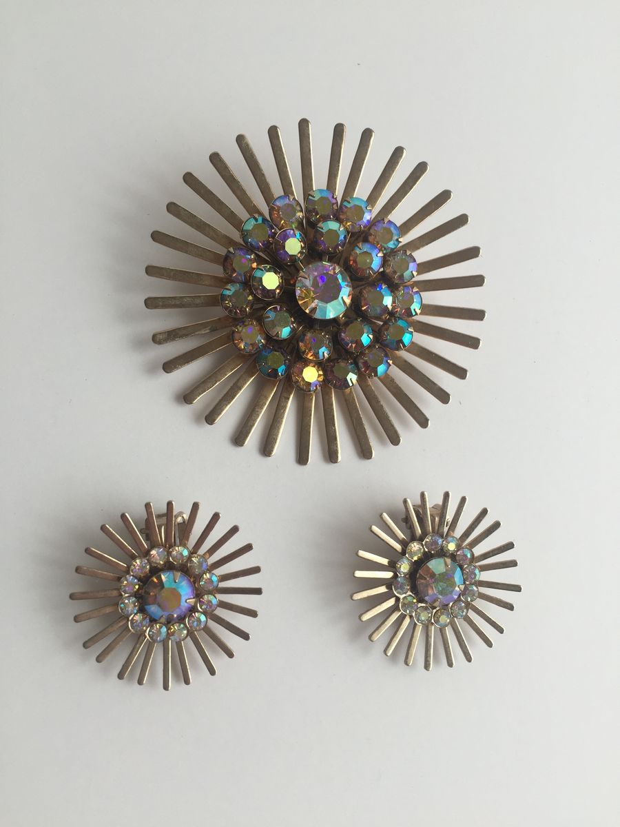 Atomic Starburst Brooch and Earrings Set - product image