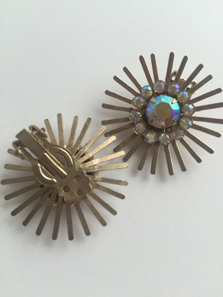 Atomic Starburst Brooch and Earrings Set - product images  of