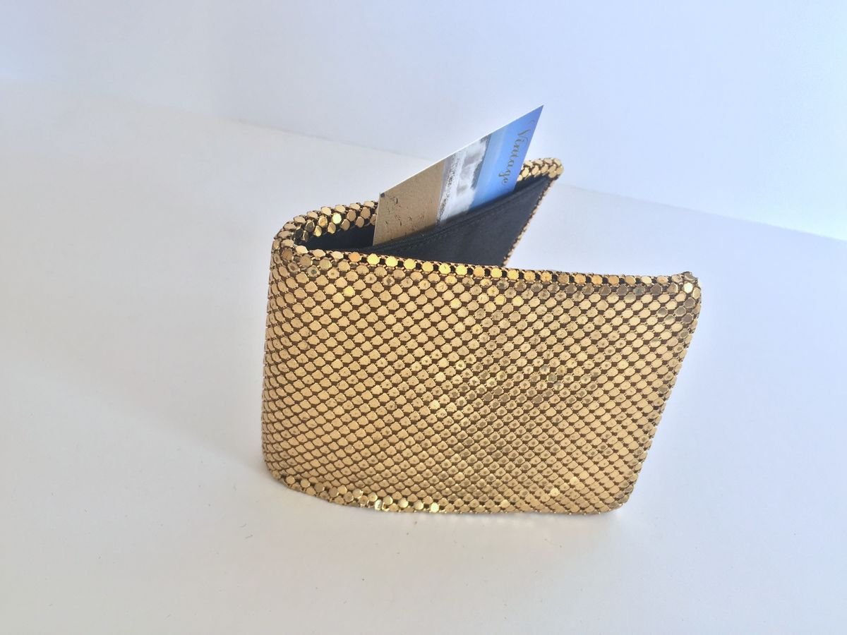 Whiting and Davis Gold Mesh Wallet - product image