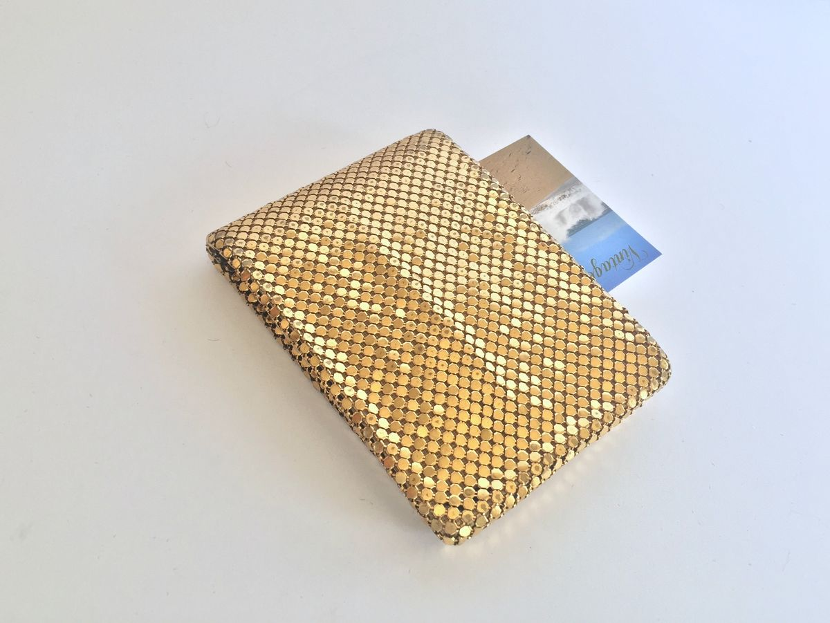 Whiting and Davis Gold Mesh Wallet - product images  of