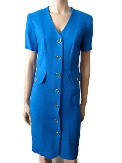 Blue Short Sleeve Dress size 6 Bright Aqua - product images  of