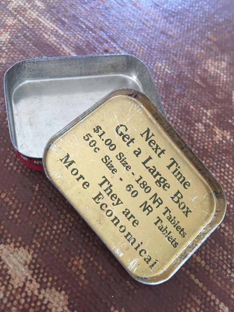Antique Medicine Tin Natures Remedy NR Tablets - product images  of