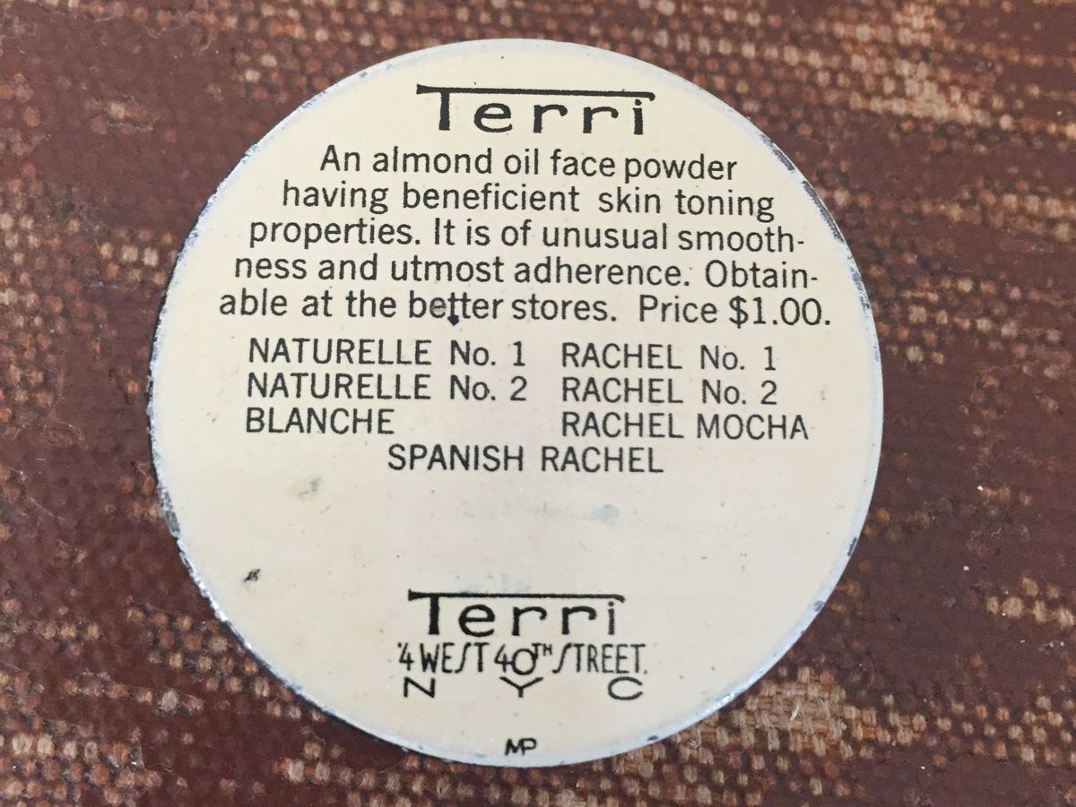 Antique Terri Face Powder Tin Sample Size - product images  of