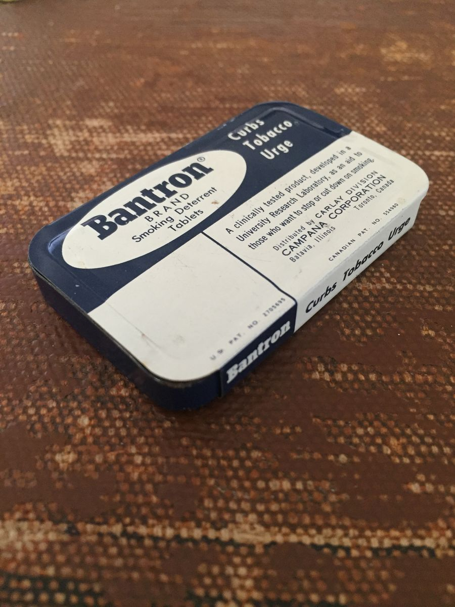 Vintage Bantron Tin Smoking Deterrent Tablets 1960's - product images  of