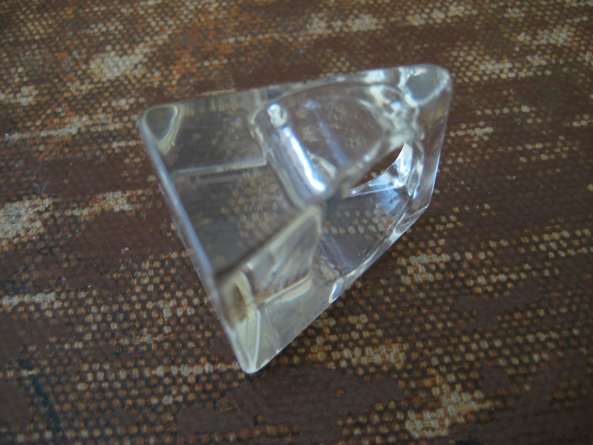 Clear Lucite Ring Block of Ice - product images  of