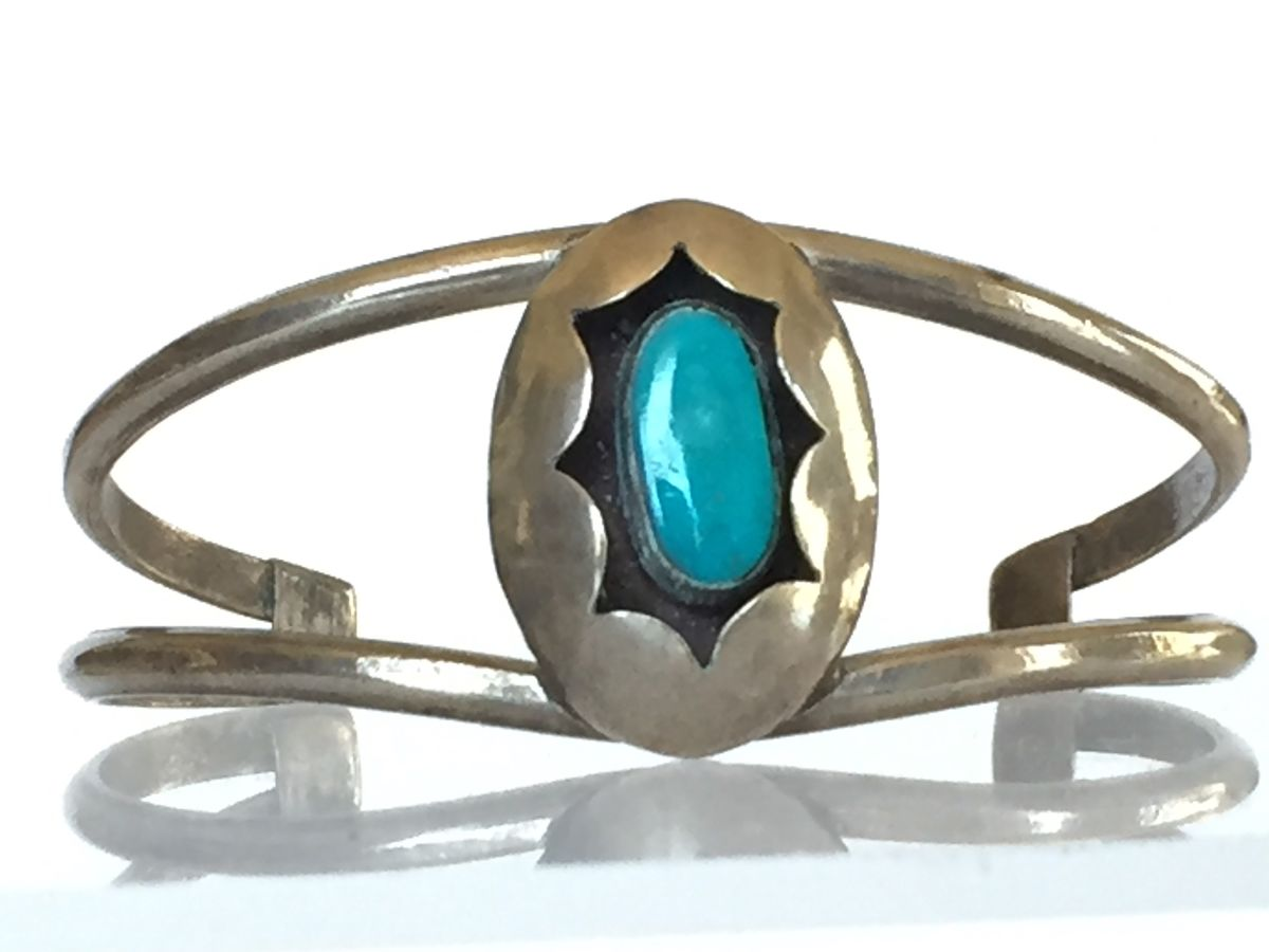 Silver and Turquoise Bracelet - product image