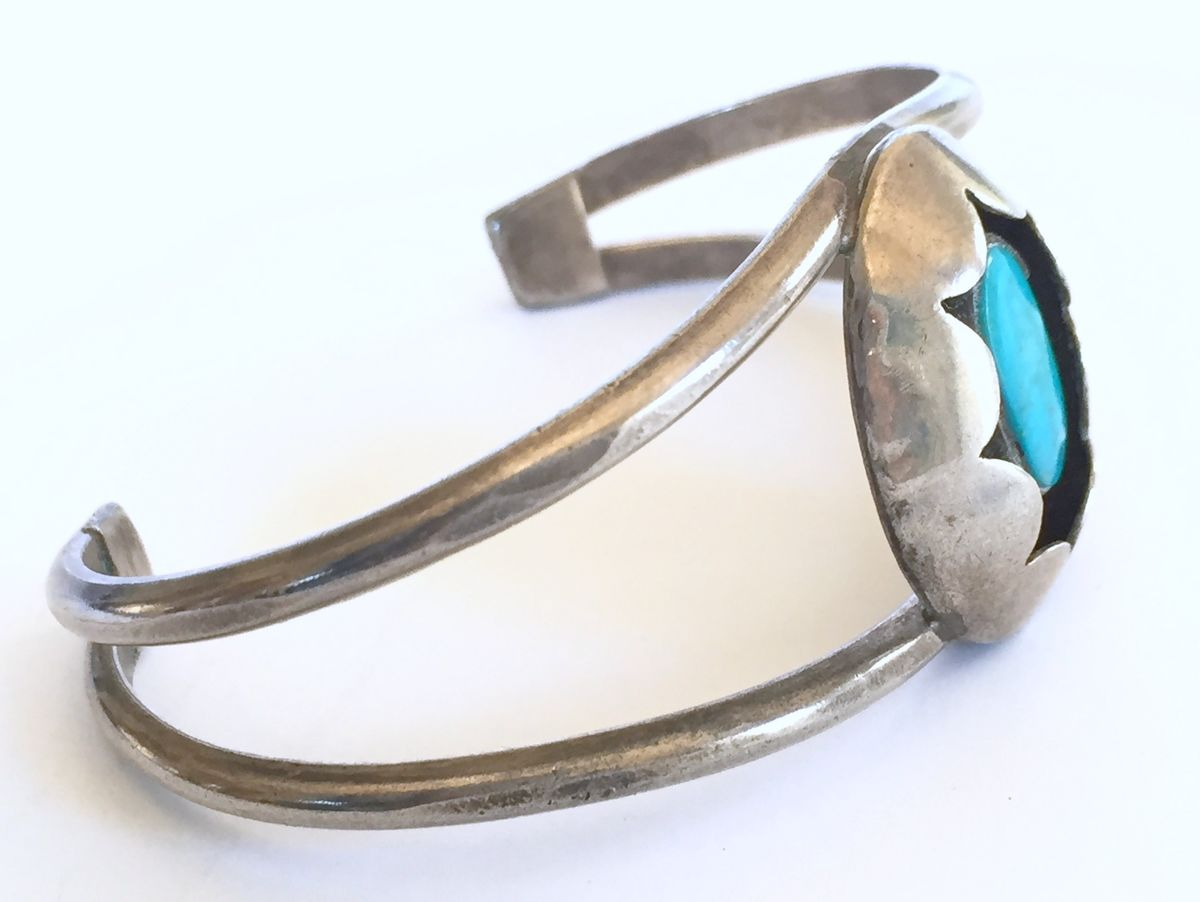 Silver and Turquoise Bracelet - product images  of
