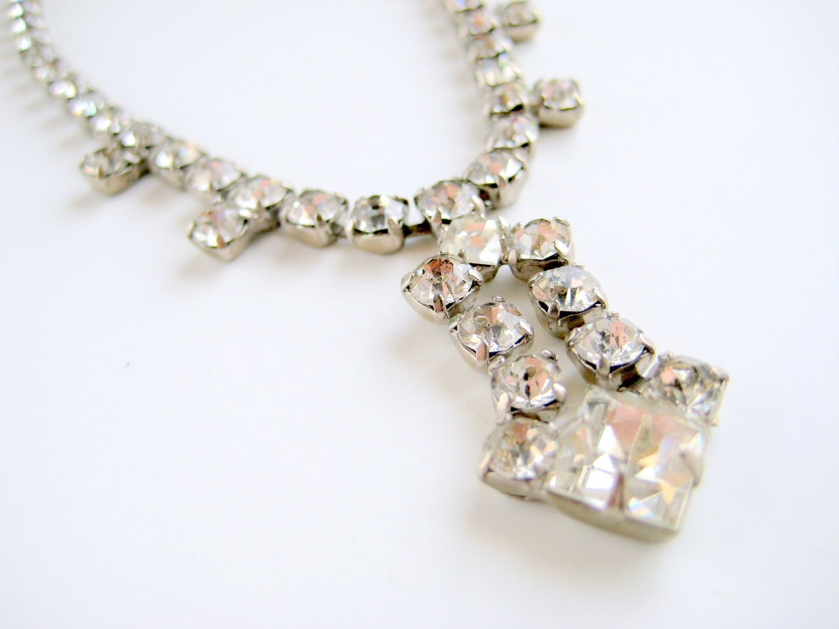 modern rhinestone the products princess necklace