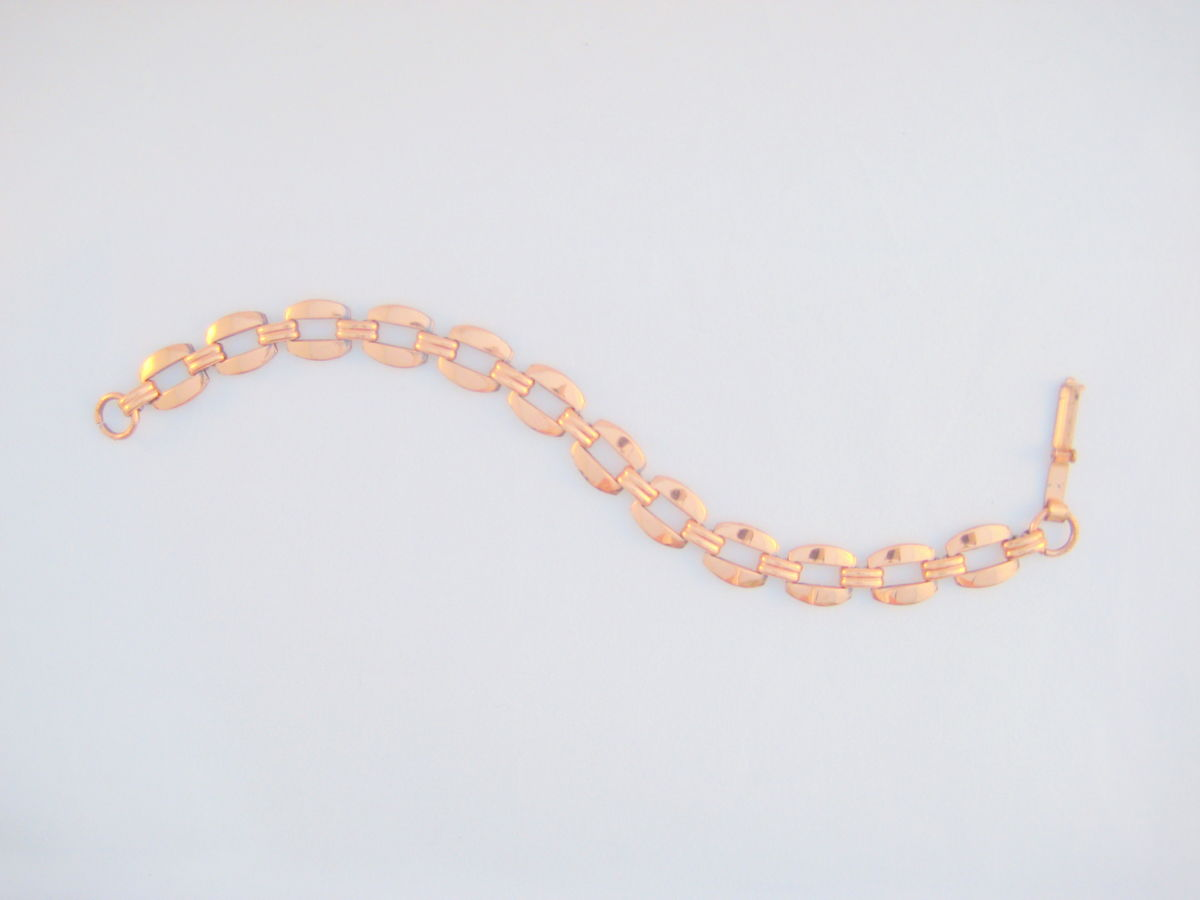 Vintage Copper Link Bracelet - product images  of